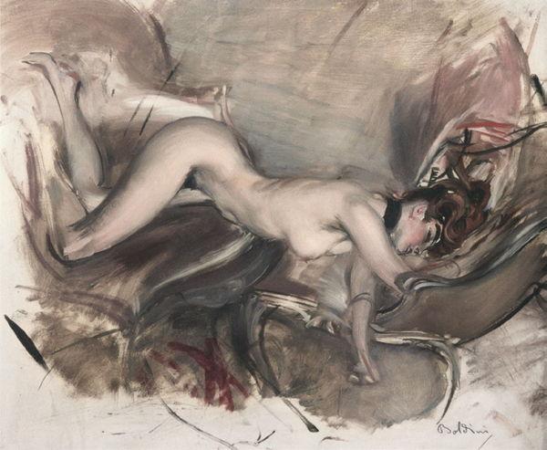 Giovanni Boldini Nudo di giovane signora [Desnudo de mujer joven], 1890-1900 Arkas Collection