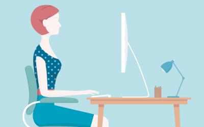 Tanto si estás trabajando en casa como en la oficina, ¡cuida tu ergonomía!