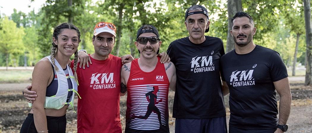 Ocho personas, un reto: 42 kilómetros de confianza